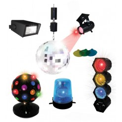 Partyfunlights Disco party set (6 delig)