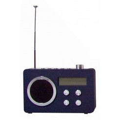Digitale FM Radio - wekker (blauw)