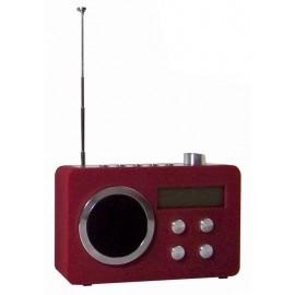 Digitale FM Radio - wekker (rood)