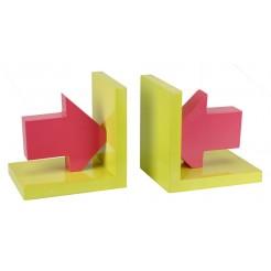 Boekensteunen  (geel/rood)