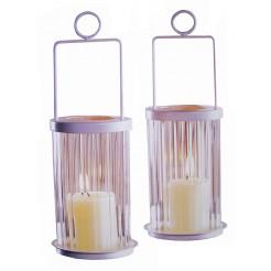 Gifts@Home Metalen lantaarns 25cm (set van 2)