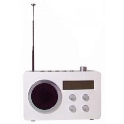 Digitale FM Radio - wekker (wit)