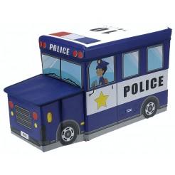 Opvouwbare opbergbox en zitje (politie)