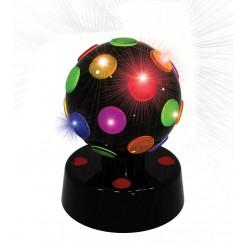 Partyfunlights Disco lamp 10cm (zwart)