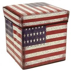 Opvouwbare opbergbox en zitje (America)