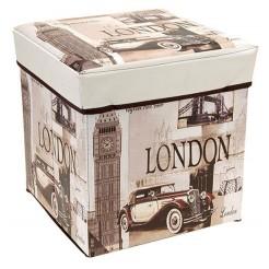 Opvouwbare opbergbox en zitje (London)