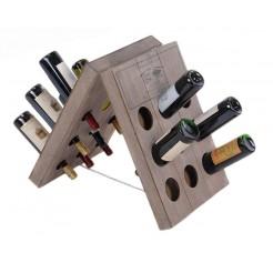 Wijnrek  hout (18 flessen)