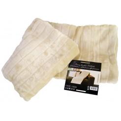 Fleece-/ vachtdeken 160x130  (beige)