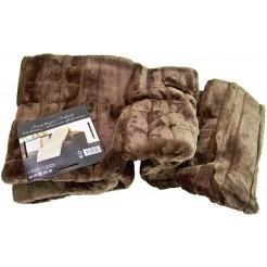 Fleece-/ vachtdeken 160x130  (bruin)