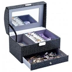 Juwelendoos met spiegel (21,5x14x14,5)