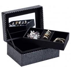 Juwelendoos met spiegel (18x12x8)