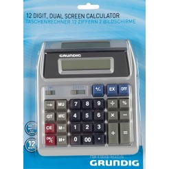 Grundig Calculator met 2 displays, 12 cijfers