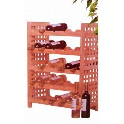 Houten wijnrek (voor 25 flessen)