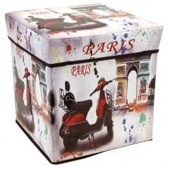 Opvouwbare opbergbox en zitje (Paris)