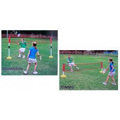 Outdoor-Play Tennis- en badmintonset