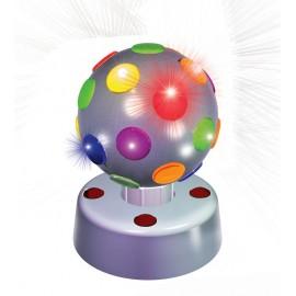 Partyfunlights Disco lamp 10cm (zilver)