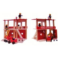 Brandweergarage met accessoires