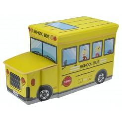 Opvouwbare opbergbox en zitje (schoolbus)