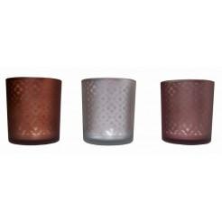 Gifts@Home Theelichthouders glas (set van 3)