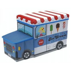 Opvouwbare opbergbox en zitje (ice cream)